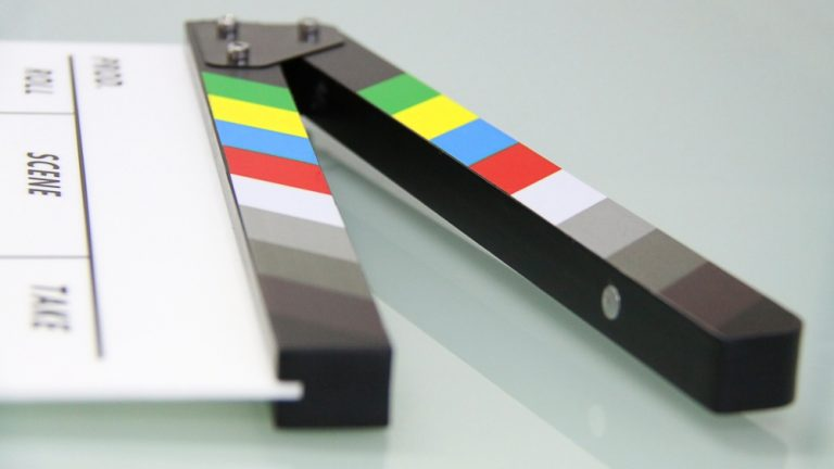 clapperboard on its site